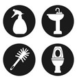sanitation or cleaning icons set in circle button vector image vector image