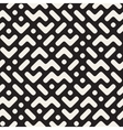 Seamless Black And White Rounded ZigZag vector image