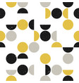 seamless geometric pattern with circles and vector image