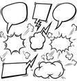 set empty comic speech bubbles design element vector image vector image