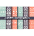 Set of six ethnic seamless patterns vector image vector image