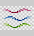 smoothbeautiful waves set wave abstract vector image vector image