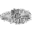 state word cloud concept vector image vector image