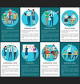 strategy and working task for business idea set vector image