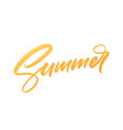 summer handwritten brush stroke acrylic paint vector image