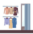 summer mode and changing room vector image vector image