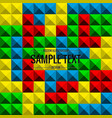 tetris game background seamless pattern vector image
