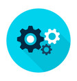 three gear flat circle icon vector image vector image