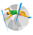 track-and-field athletics - pole vault vector image