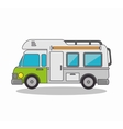 trailer camp isolated icon vector image
