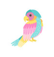 tropical parrot bird with colored plumage vector image vector image
