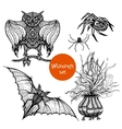 Witchcraft Doodle Set vector image vector image