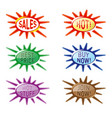wobbler star for supermarket packaging and vector image vector image