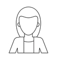 woman business manager worker elegant thin line vector image