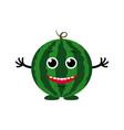 cute cartoon watermelon vector image