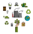 Environment and ecological conservation icons vector image