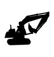 excavator silhouette isolated icon vector image
