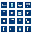 16 bathroom icons set vector image vector image