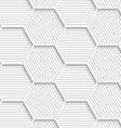 3D white striped gray hexagonal net vector image vector image