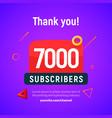 7000 followers post 7k celebration seven vector image vector image
