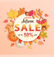 autumn sale banner up to 50 percent off vector image vector image