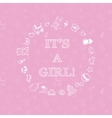 baby shower design over pink background vector image