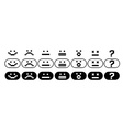 Black and white pixel smiles set vector image