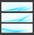 blue unique abstract wave swoosh header vector image vector image