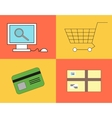 Buying process in the online shop vector image