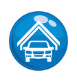 car vehicle in garage button icon vector image