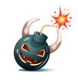 cartoon bomb pumpkin characters halloween vector image vector image