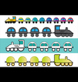 cartoon locomotive train toy vector image
