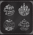Chalk A Very Merry Christmas And Happy New Year vector image vector image
