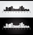 chattanooga tennessee skyline and landmarks vector image vector image