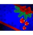 Christmas background with spheres vector image