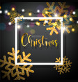 christmas background with typography and shiny vector image vector image