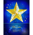 Christmas gold star template with sample text vector image vector image