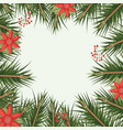 christmas ornament background with colorful pine vector image