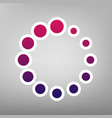 circular loading sign purple gradient vector image vector image