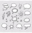 Comic speech bubbles and elements set vector image vector image