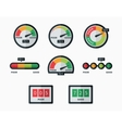 Credit score indicators and gauges set vector image vector image