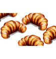 croissant watercolor breakfast template vector image