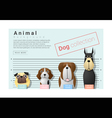 Cute animal family background with Dogs 3 vector image vector image