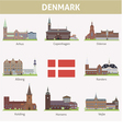 Denmark Symbols of cities vector image vector image