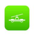 draisine or handcar icon digital green vector image vector image