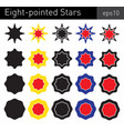 eight-pointed stars vector image vector image