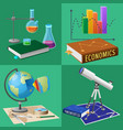 equipment for subjects studies set vector image vector image