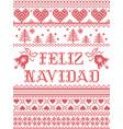 feliz navidad seamless christmas pattern vector image vector image