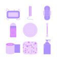 Feminine hygiene set of flat icons of care