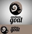 goat emblem vector image